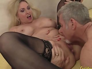 Stunning Big Tits Granny Cala Covets Shows An Old Man Her Abilities