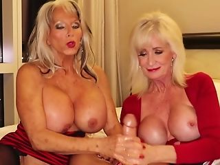 Matures Beotches With Faux Tits Pleasing One Lucky Dude Together