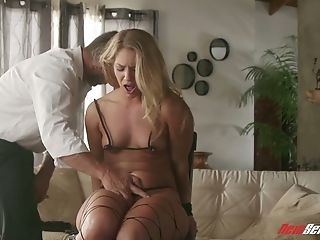 Fantastic Blonde Honey Candice Dare Puts On Sexy Stuff Before Being Fucked