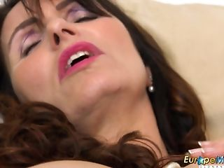 Euro Mummy Arousing Brit Housewife Love Office Joy