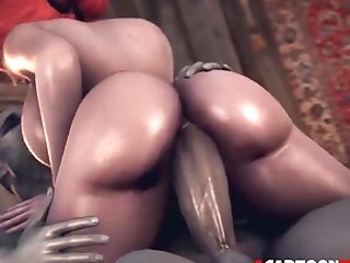 Big Tits Honey Named Triss Liking Hard Rump Pounding From Grey Man And Aliens