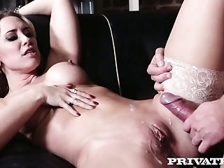 Fantastic Sexpot Karlie Simon Jams Her Big Tits While Being Fucked Missionary