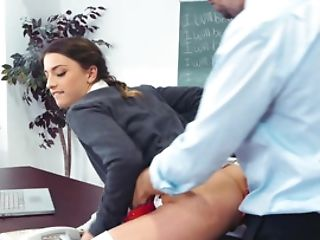 Lustful Tutor Penetrates Asshole Of His Naive Student Chick