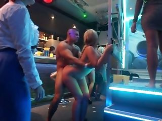 Dirty And Wild Bitches In The Neon Lit Nightclub Having Wild Orgy