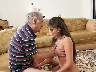 Old Geezer Fucks Latina Teenager Jeleana Marie