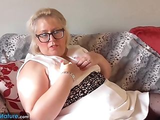 Europemature Blonde Chubby Lexie Solo Getting Off