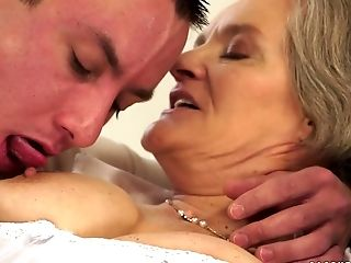 Another Chubby Granny Has Oral Fuck-a-thon