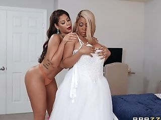 Wild Interracial Threesome With Chubby Bridgette B And Moriah Mills