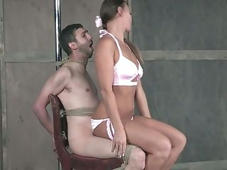 Romp-greedy Mistress London Sea Penalizes Nads And Dick Of Her Enslaved Man