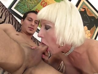 Lusty Blonde Cougar Dalny Is Absorbed With Railing Fat Big Jizz-shotgun On Top