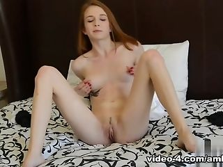 Best Adult Movie Star Jackie Marie In Incredible Solo Nymph, Skinny Porno Clip