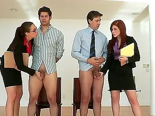 Two Bosses Giovanni And Steve Got A Special Introduce By Their Secretaries Brooklyn Lee And Chanel Preston