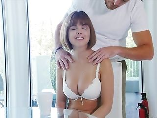Dillion Harper Gets Her Hairy Cunt Massaged With A Stiff Fat Dick