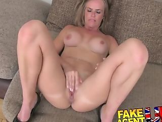 Fakeagentuk Deep Throating And Ass-fuck From Timid Inexperienced