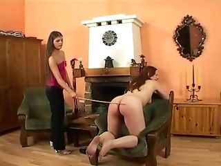 Dark Haired Sweetheart Needs To Groan While A Mistress Penalizes Her Butt