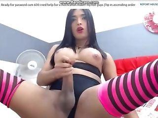 Valery Henao Aka: Xvaleryts Big Bone Latina Transsexual Smoking & Masturbating Pt Four