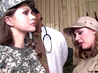 Yuffie Yulan And Tina Kay Are Reporting For Duty To The Military Base.