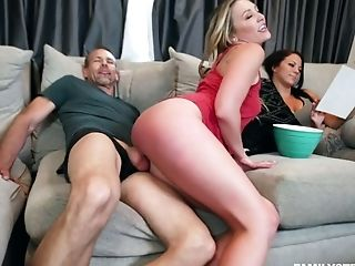 Brutha-in-law Can't Stand Against Fucking Whorish Nude Butted Blonde Adira Allure