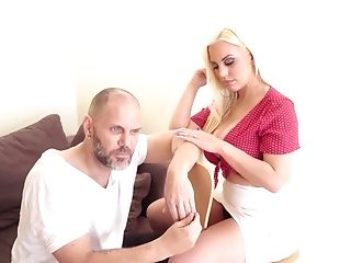 Sexy Blondie Fesser Likes To Fuck With A Friend Until He Cums