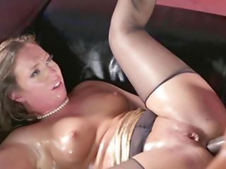 Oiled Interracial Bang-out With Bootylicious Maddy Oreilly