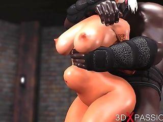 Sweet Nubile Gets Fucked Hard By Black Man In The Dark Playroom