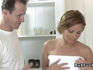Honey Gets Banged After Rubdown Session
